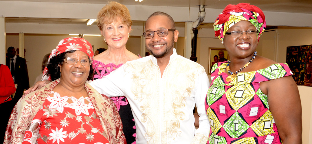 Dr. Joyce Banda with Dr. Natalie Hahn and colleagues