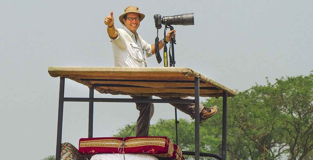 Dean Jacobs photographing in Africa